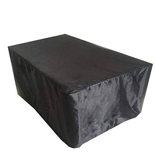 KXBYMX Gartenmöbel Regenschutz Garten wasserdicht Sonnenschutz Tisch und Stuhl Staubschutz Plane wasserdichter, strapazierfähiger, hochwertig (Farbe : SCHWARZ, größe : 325x208x58cm)