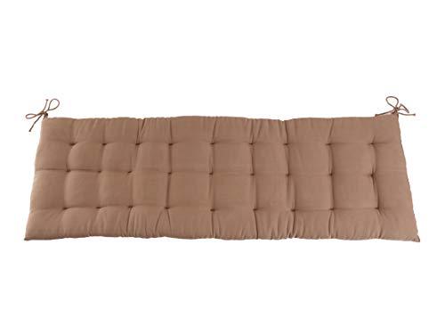 CB Home & Style Bankauflage Bankkissen 4 cm dick Sitzpolster Bank Gartenbank Auflage (120 x 40 cm, Sand)