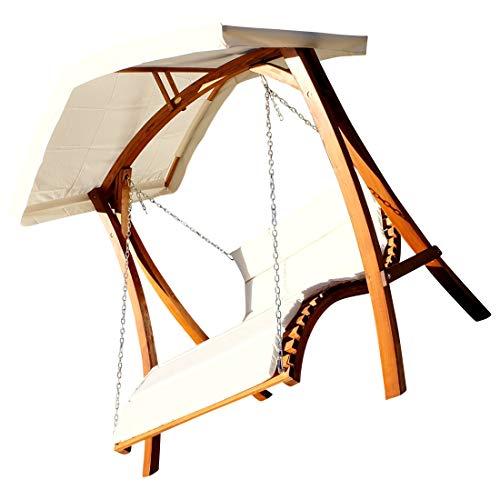 Design Hollywoodliege Doppelliege Hollywoodschaukel Aruba/Macao aus Holz Lärche mit Dach von AS-S, Farbe:Aruba