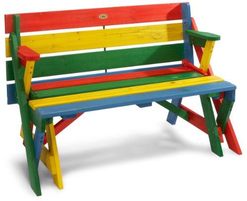 Habau 687 Kinder-Picknickbank, Mehrfarbig, 100 x 99 x 58 cm