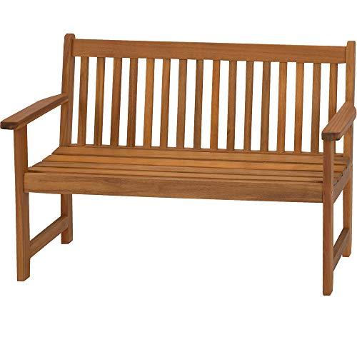 acamp Gartenbank Woody Kids | niedrige Sitzhöhe, 90x40x60 cm | hochwertiges Akazienholz | FSC®-Zertifiziert | Schutz vor Witterungseinflüssen Dank Teaköl Finish | Premiumqualität | hohe Stabilität