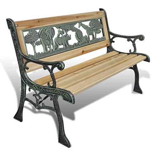 Gootop Gartenbank aus Holz für Kinder, Stuhl, Bank, Sitzbank für Kinder, 84 x 37 x 50 cm