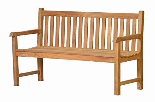 Kai Wiechmann Gartenbank Scotland Teak-Holz 150 cm 3-Sitzer unbehandelt massiv wetterfest