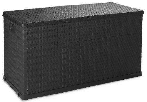 TOOMAX Auflagenbox Kissenbox 420 L Rattan, Anthrazit, 120 x 56 x 63 cm
