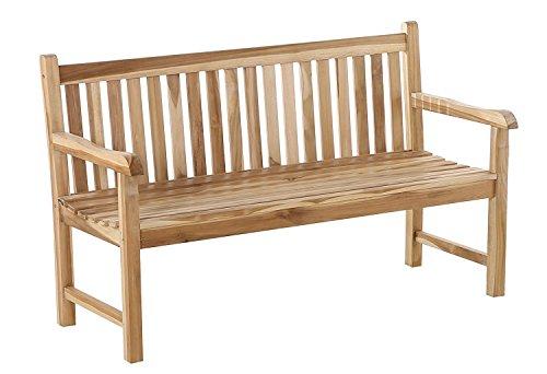 SAM 3 Sitzer Gartenbank Caracas, Sitzbank aus Teak-Holz, 150 cm, Massive Holzbank, für Balkon oder Garten