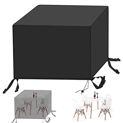 Redfire Gartenmöbel Abdeckung 140x140x90 cm, UV-Beständig wasserdichte Möbelabdeckung Kälteschutz Oxford Gewebe 420D für Rattanmöbel,Schwarz