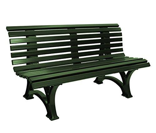 gartenmoebel-einkauf Gartenbank 3-sitzer / 150cm aus Kunststoff dunkelgrün, wetterfest