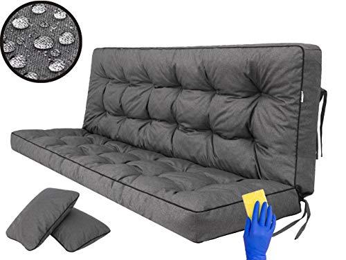 Kissen für Hollywoodschaukel, Gartenschaukelkissen Sitzbank mit Rückenlehne, sitzbreite 180 cm
