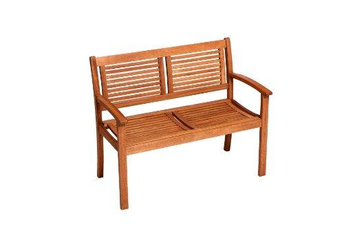 gartenmoebel-einkauf Gartenbank Cordoba 2-sitzer, Eukalyptus Holz, FSC®-Zertifiziert