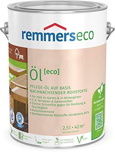 Remmers Gartenholz-Öle [eco] Holzpflege Möbelpflege (2,5 l, Teak-Öl)