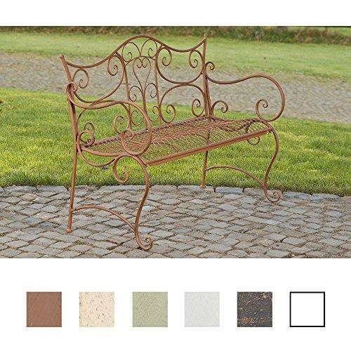 CLP Gartenbank Tara aus lackiertem Eisen I Sitzbank im Jugendstil I Eisenbank mit 2-3 Sitzplätzen I erhältlich Antik Braun